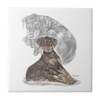 Cute Doberman Pinscher Puppy Tile