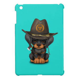 Cute Doberman Puppy Zombie Hunter Case For The iPad Mini