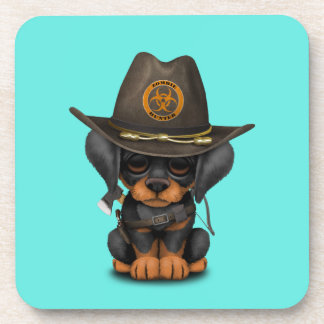 Cute Doberman Puppy Zombie Hunter Coaster