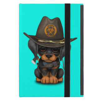 Cute Doberman Puppy Zombie Hunter Cover For iPad Mini