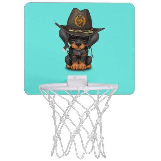 Cute Doberman Puppy Zombie Hunter Mini Basketball Hoop