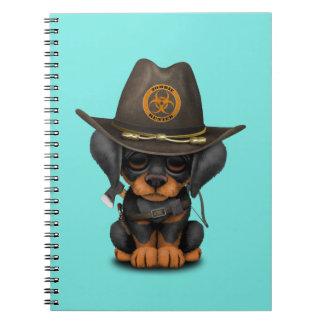 Cute Doberman Puppy Zombie Hunter Notebook