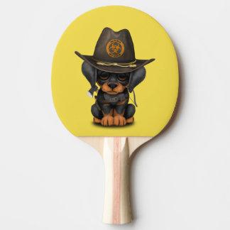 Cute Doberman Puppy Zombie Hunter Ping Pong Paddle