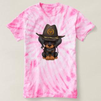 Cute Doberman Puppy Zombie Hunter T-shirt