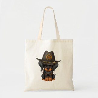 Cute Doberman Puppy Zombie Hunter Tote Bag