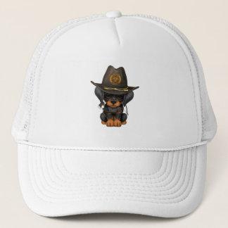 Cute Doberman Puppy Zombie Hunter Trucker Hat