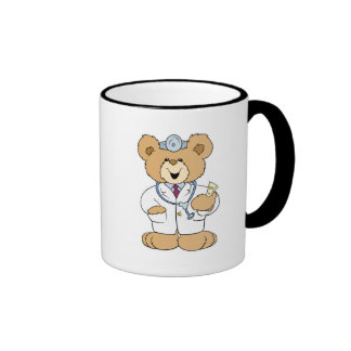 Cute Doctor Teddy Bear Coffee Mugs