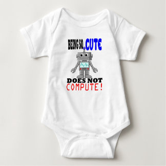 Cute Does Not Compute Baby Bodysuit