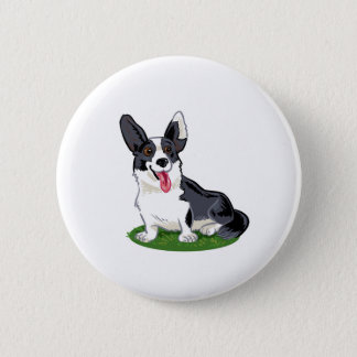 Cute dog 2 inch round button