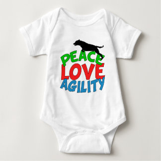 Cute Dog Agility Baby Bodysuit