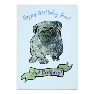 Cute Dog Birthday Party French Bulldog Card