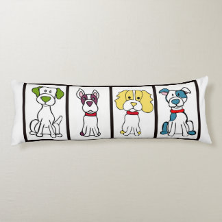Cute Dog Body Pillow - Original Artwork