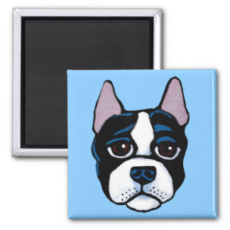 Cute dog, Boston Bull Terrier puppy Magnet