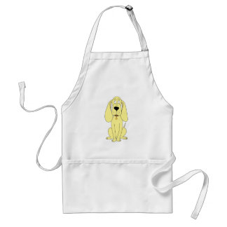 Cute Dog Cartoon. Yellow Hound. Standard Apron