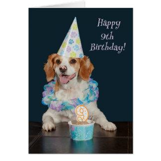 Cute dog celebrating a 9th Birthday! Card