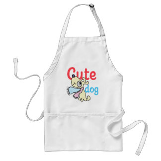 cute dog cool design standard apron