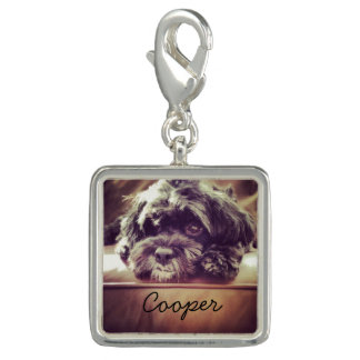 Cute Dog Custom Pet Photo Charm