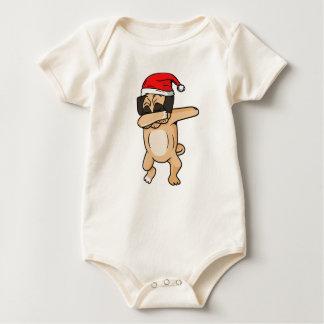 Cute Dog dab with santa hat Chrismas T-Shirt