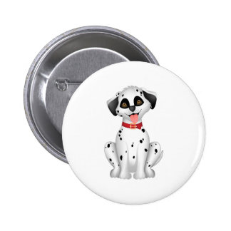 Cute dog Dalmatian 2 Inch Round Button