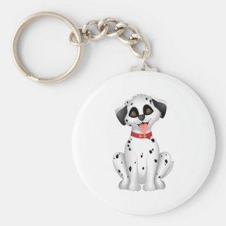 Cute dog Dalmatian Basic Round Button Keychain