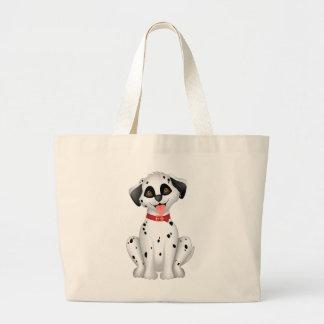 Cute dog Dalmatian Large Tote Bag