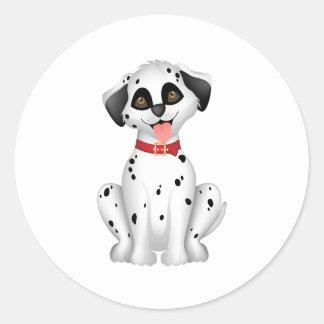 Cute dog Dalmatian Round Sticker