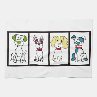 Cute Dog Dishtowel Kitchen Towel