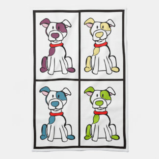 Cute Dog Dishtowel - Pitbull Kitchen Towel