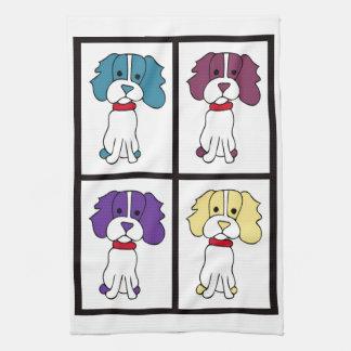 Cute Dog Dishtowel - Spaniel Kitchen Towel