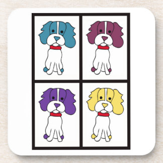 Cute Dog Drawing - Spaniel Coaster