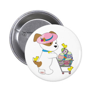 Cute Dog Easter Eggs 2 Inch Round Button