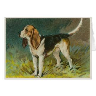 Cute Dog Greetings With Sweet Beagle Print Card