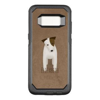 cute dog head tilt jack russell terrier OtterBox commuter samsung galaxy s8 case