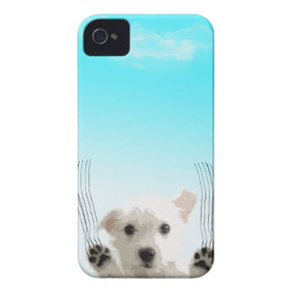 "Cute dog - ""let me in"" Case-Mate iPhone 4 case"