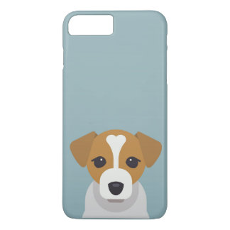 Cute dog on cyan background iPhone 7 plus case