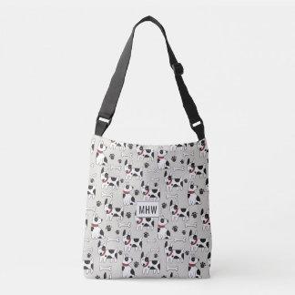 Cute Dog Pattern custom monogram bags