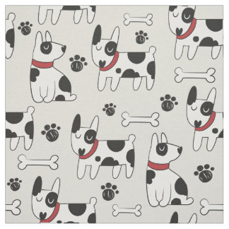 Cute Dog Pattern fabric