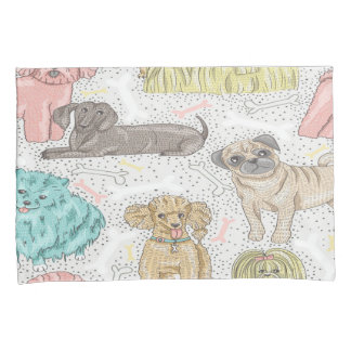 Cute Dog Pattern Pillow Cases Pillowcase
