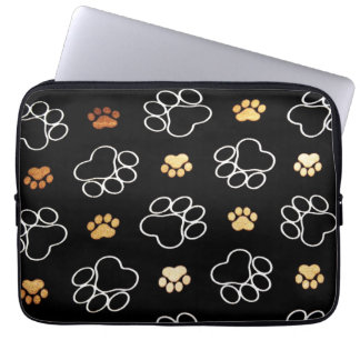 Cute Dog Pawprints Tracks, Laptop Sleeve 13""
