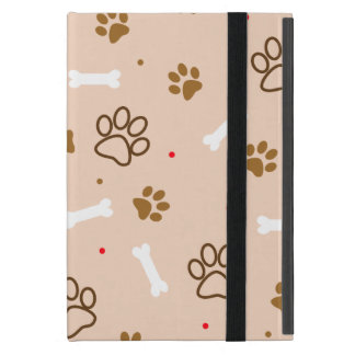cute dog paws and bones polka dots pattern covers for iPad mini