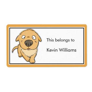 Cute Dog School Supplies Labels
