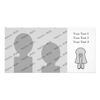 Cute Dog. Silver Gray Toy / Miniature Poodle. Custom Photo Card