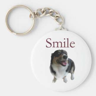 Cute Dog Smile Basic Round Button Keychain