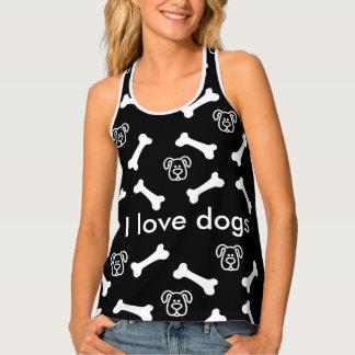 Cute Dog Theme Tank Top