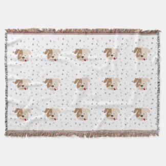 cute dog throw blanket