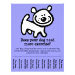 CUTE Dog Walker Customizable promo Full Color Flyer