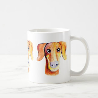 Cute dog watercolor portrait coffee mug