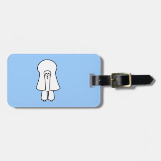 Cute Dog. White Toy Poodle / Miniature Poodle. Luggage Tag