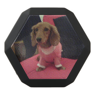 Cute Dog Your Photo Here 4Stacy Black Bluetooth Speaker