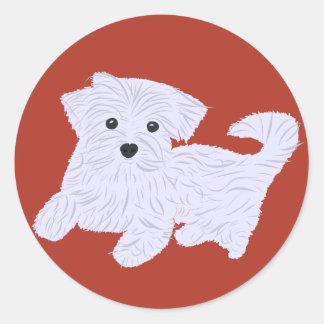 Cute Doggie Classic Round Sticker